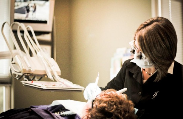 One of our dental assistants performs Gum Contouring on an actual patient at our Lynnwood, WA dental office.
